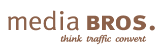 MediaBros brown logo